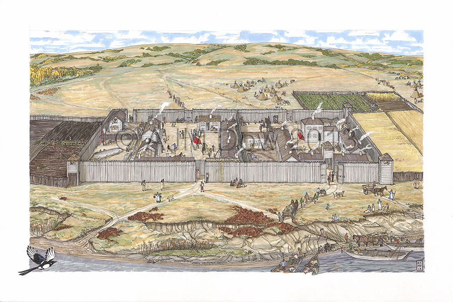 Forts Edmonton and Augustus IV